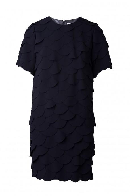 Sukienka w kółka długi rękaw DESIRE