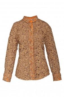 Gold guipure shirt VERONIQUE