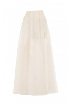 Transparent maxi ecru skirt DESIRE