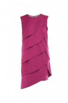 Sukienka z drapowaniem fuksja