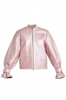 Różowa skórzana kurtka VERONIQUE