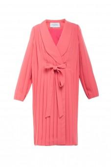 Sukienka plisowana z kokardą