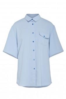Błękitna koszula z krótkim rękawem VERONIQUE