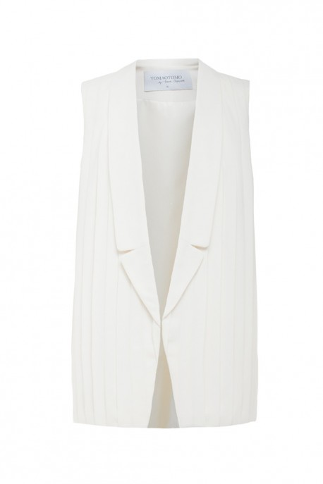 Pleated silk vest
