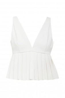 Biały plisowany top Wonderland