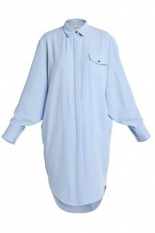 Błękitna sukienka koszulowa