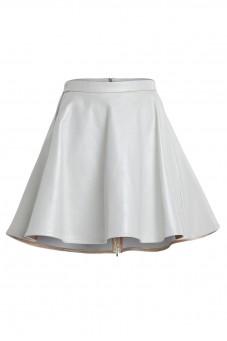 Skórzana spódnica rozkloszowana VERONIQUE