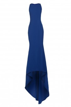 Navy sleeveless gown