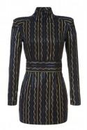 Sukienka granatowo-złota Baroq&Roll