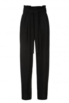 Spodnie czarne jedwabne Baroq&Roll