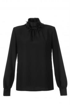 Koszula czarna ze stójką z nitek Baroq&Roll