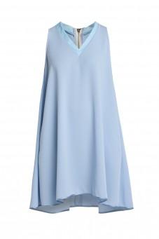 Błękitna luźna sukienka bez rękawów