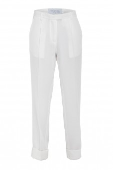 White tuxedo pants VERONIQUE