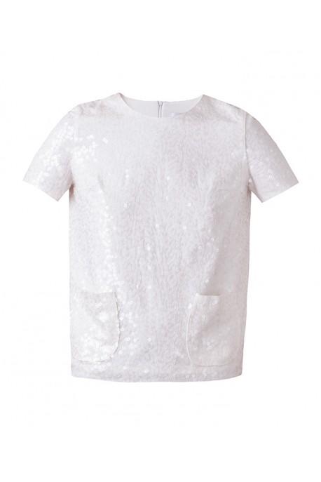 Bluzka cekin biała DESIRE
