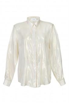 Koszula jedwabna z nitką lureks