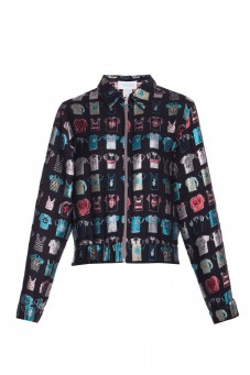 SHIRTS printed bomber jacket Wonderland
