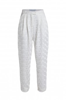 White guipure trousers VERONIQUE