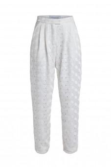 White guipure trousers VERONIQUE