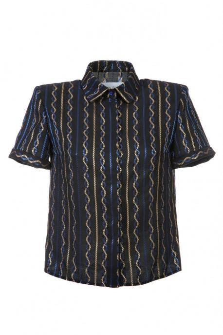 Koszula granatowo-złota Baroq&Roll