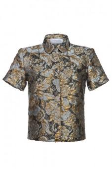 Koszula żakardowa z krótkim rękawem Baroq&Roll
