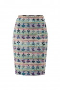 Multicolor pencil skirt Ballerinas