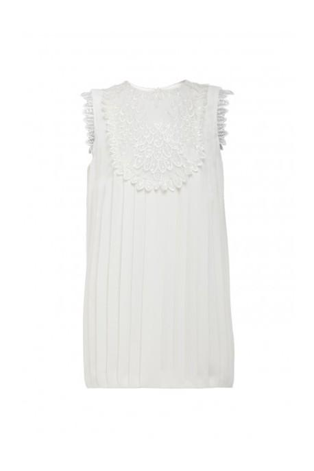 Sukienka plisowana biała