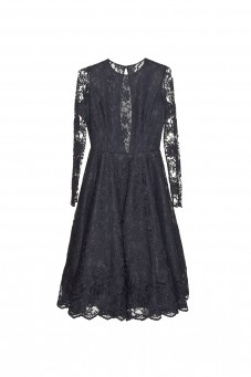 Black longsleeve lace dress