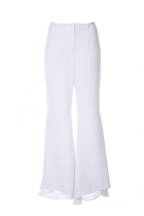 Spodnie białe rozszerzane PIANO-FORTE