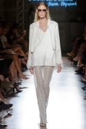 Spodnie białe z koronki PIANO-FORTE