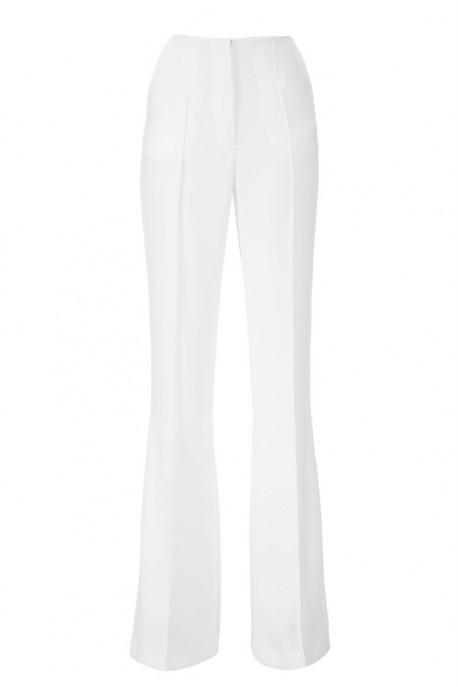 Spodnie białe jedwabne PIANO-FORTE