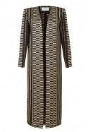Płaszcz długi złoto-czarny Baroq&Roll
