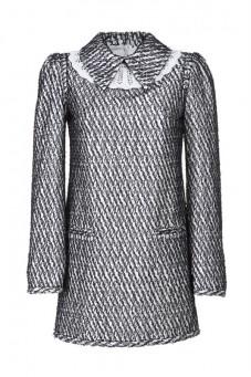Sukienka mini granatowa z kołnierzykiem PIANO-FORTE