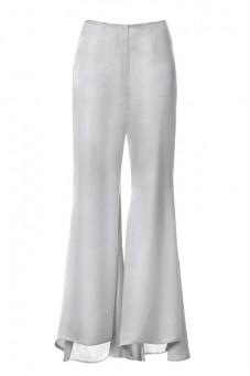 Spodnie srebrne jedwabne PIANO-FORTE