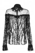 Koszula czarna koronka PIANO-FORTE