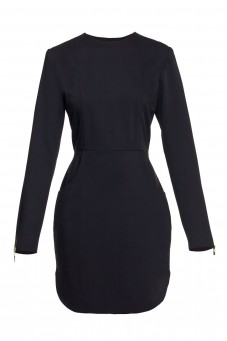 Black slim longsleeve dress