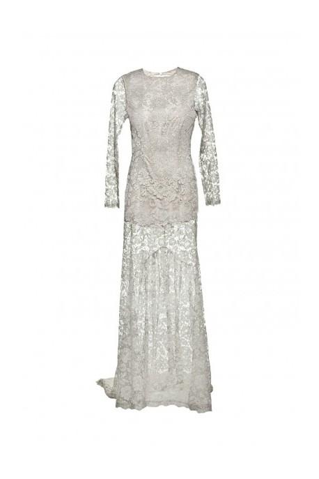 Suknia z francuskiej koronki
