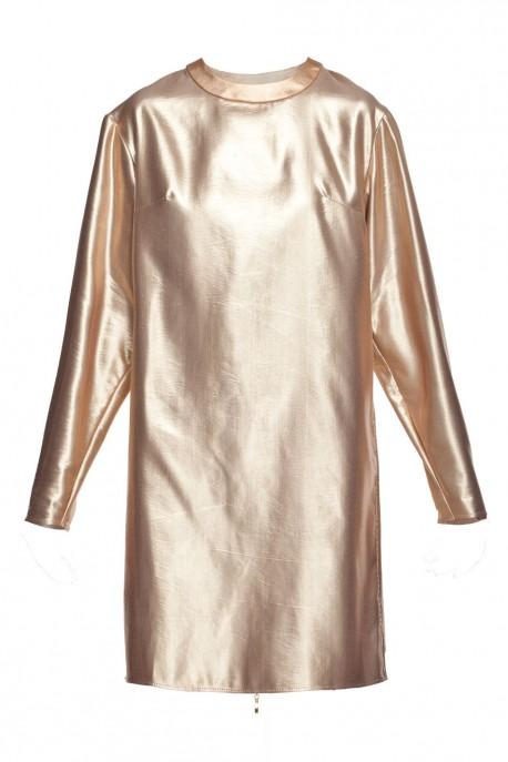 Sukienka prosta złota