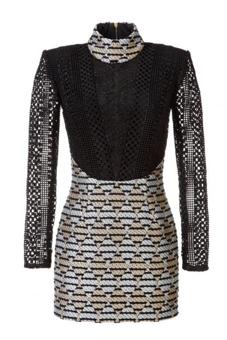 Sukienka wełna z gipiurowym dekoltem Baroq&Roll