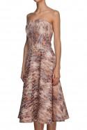 Sukienka gorsetowa brzoskwiniowa