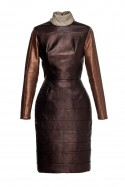 Copper dress with turtleneck