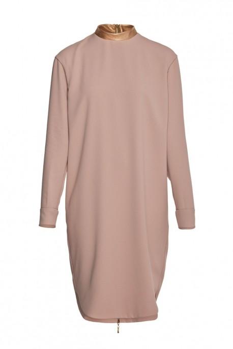 Sukienka jedwabna beżowa