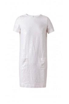 Sukienka cekin biała DESIRE