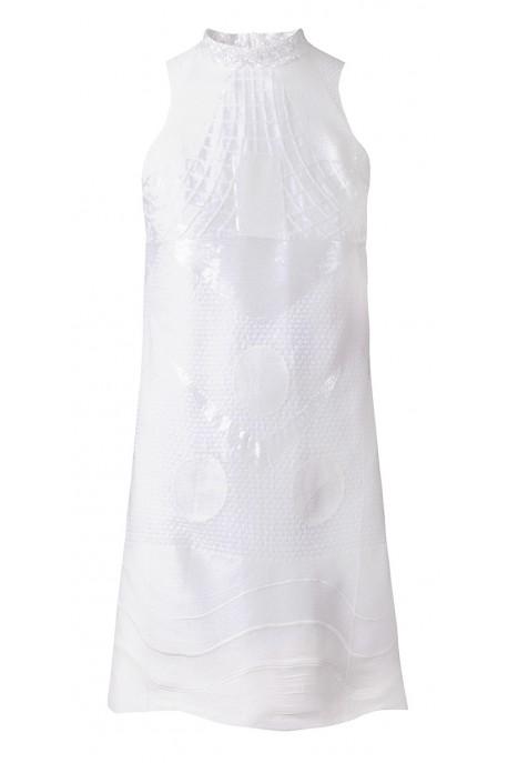 Sukienka stójka cekin DESIRE