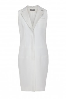 White waistcoat dress VERONIQUE