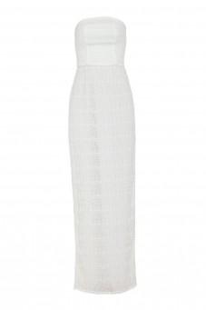 Biała suknia z koronką