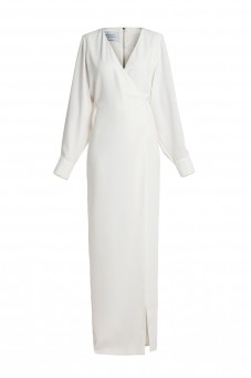 White plain gown