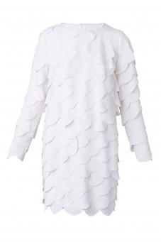 Sukienka z białych kółek DESIRE