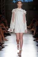 Sukienka biała w płatki PIANO-FORTE