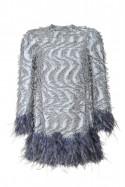 Sukienka mini ze zdobieniami pióra PIANO-FORTE