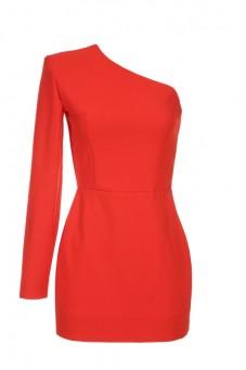 Sukienka czerwona na jedno ramię Baroq&Roll